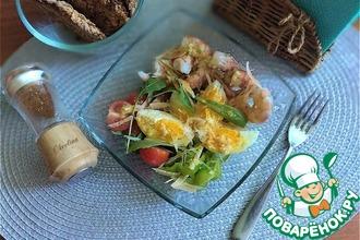 Рецепт: Салат с тигровыми креветками
