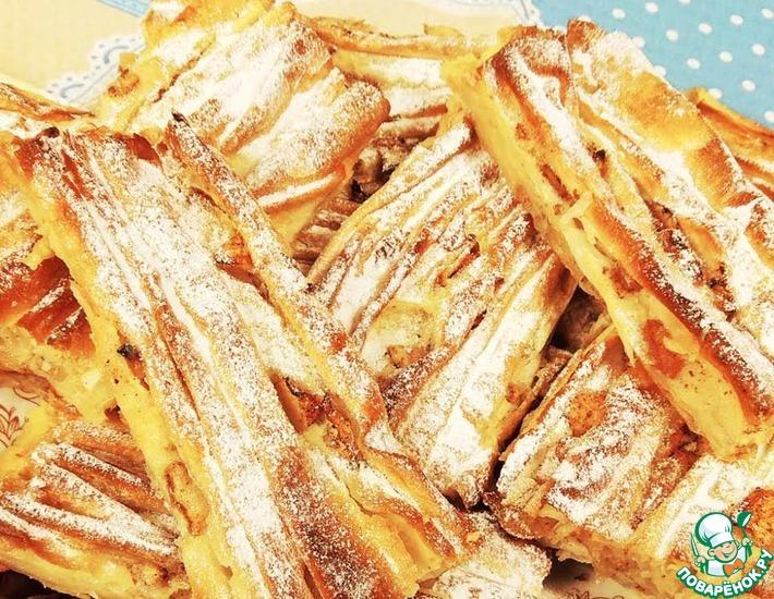 Рецепт: Греческий сладкий пирог Плиссе