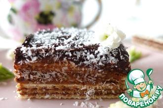 Рецепт: Шоколадный торт из вафель с маскарпоне