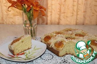 Рецепт: Дрожжевой пирог с абрикосами без замеса руками