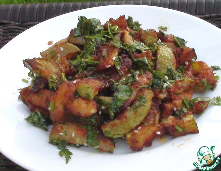 Рецепт: Жареные кабачки со специями