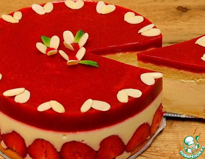 Рецепт: Клубничный торт на агар-агаре