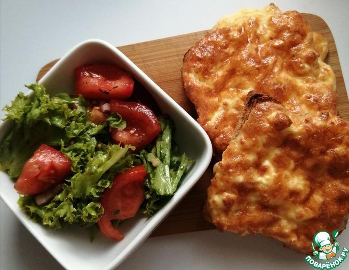 Рецепт: Горячий бутерброд с сыром