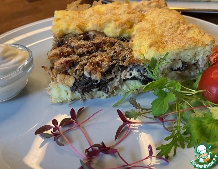Рецепт: Картофельный пирог с курицей и грибами