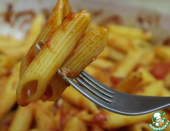 Рецепт: Макароны в томатном соусе
