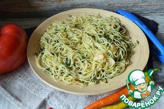 Рецепт: Спагетти с оливковым маслом и чесноком