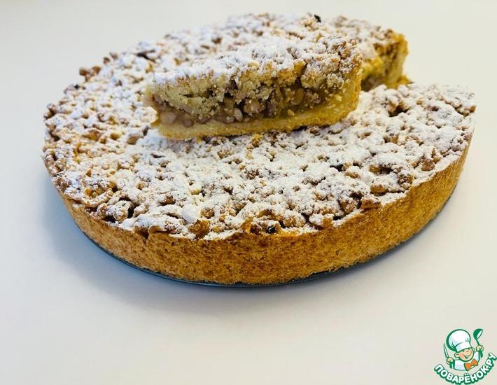 Рецепт: Немецкий яблочный пирог с грецкими орехами