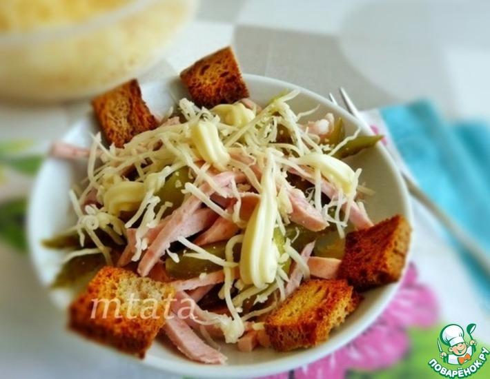 Рецепт: Салат с колбасой