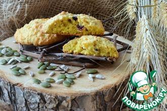 Рецепт: Овсяно-тыквенное печенье