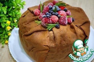 Рецепт: Ягодный блинный торт с шоколадными блинчиками