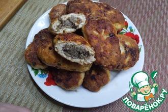 Рецепт: Куриные зразы с грибами