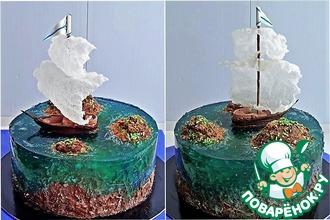 Рецепт: Оформление торта Острова