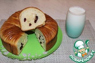 Рецепт: Десертный сдобный хлеб с клюквой