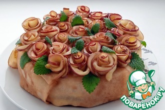 Рецепт: Блинный торт Масленица