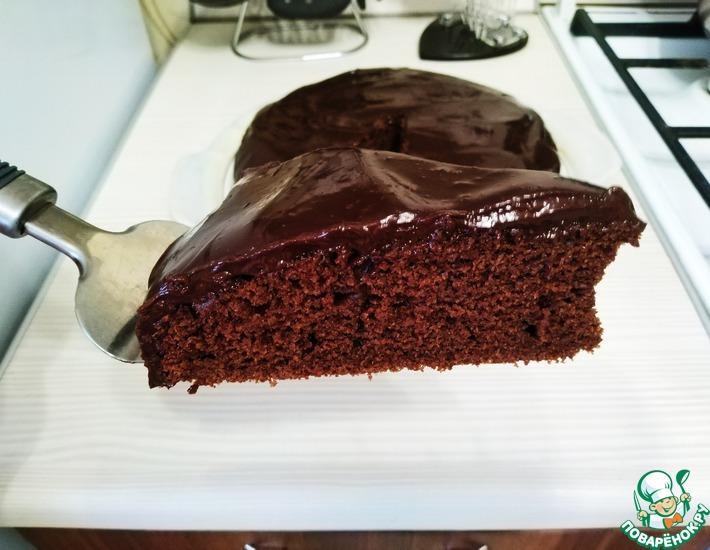 Рецепт: Простой шоколадный пирог-торт