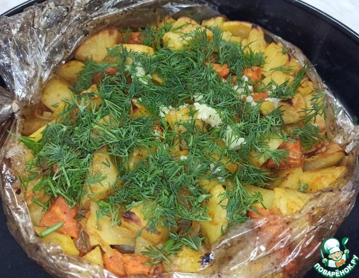 Рецепт: Картофель, запеченный в рукаве