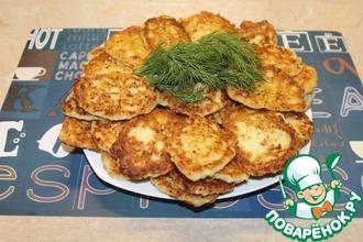 Рецепт: Постные капустные оладьи