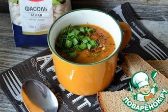 Рецепт: Суп-гуляш с белой фасолью