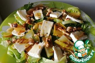 Рецепт: Салат с грушей и камамбером