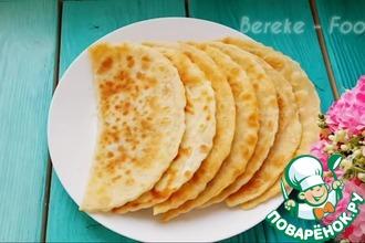 Рецепт: Лепешки с сыром и зеленью
