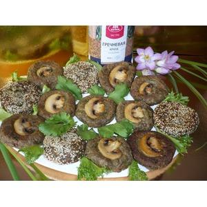 Котлеты гречневые с грибами и чиа
