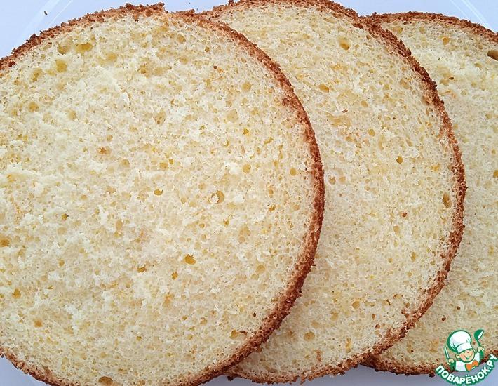 Рецепт: Апельсиновый бисквит на йогурте