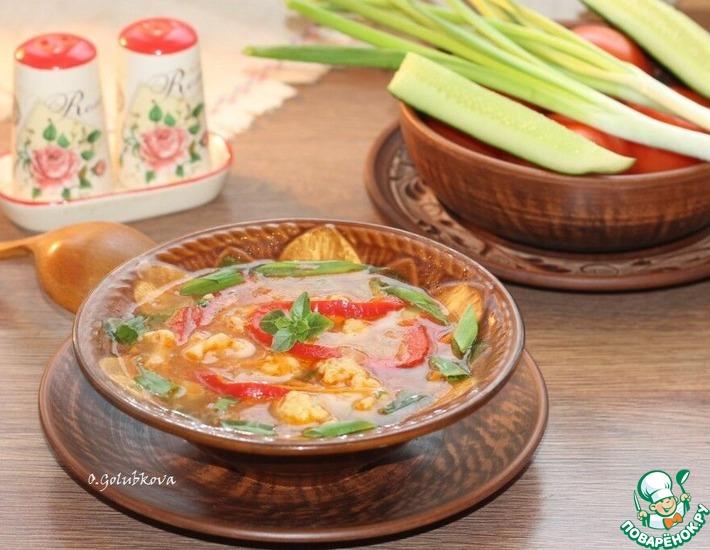 Рецепт: Суп с булгуром и цветной капустой