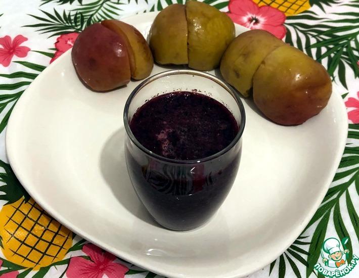 Рецепт: Смузи из черники и печеных яблок
