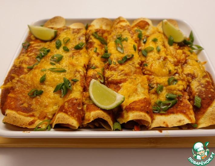 Рецепт: Мексиканская энчилада с куриным фаршем