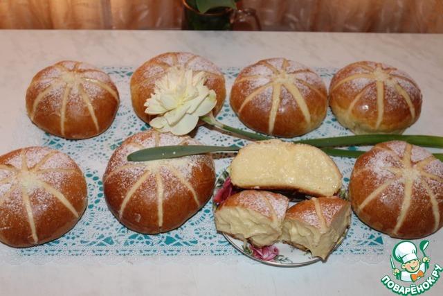 Аппетитные булочки с заварным кремом photo