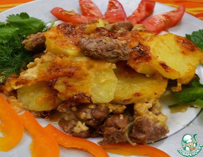 Рецепт: Мясо с картофелем по-французски