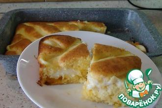 Рецепт: Апельсиновый пирог с заварным кремом