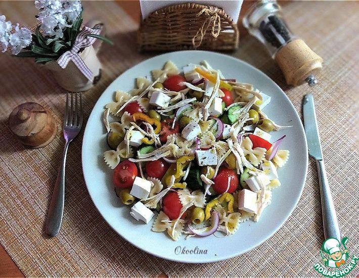 Рецепт: Салат на основе греческого салата