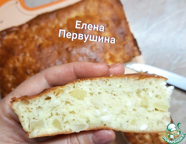Рецепт: Шарлотка творожная по рецепту Василия Емельяненко