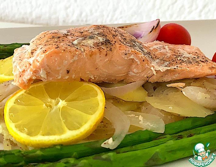 Рецепт: Рыба и картофель в фольге на сковороде