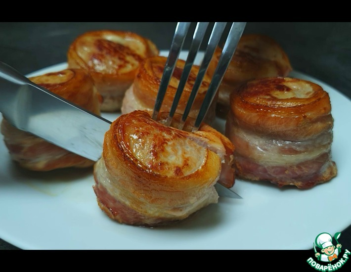 Рецепт: Медальоны из свинины