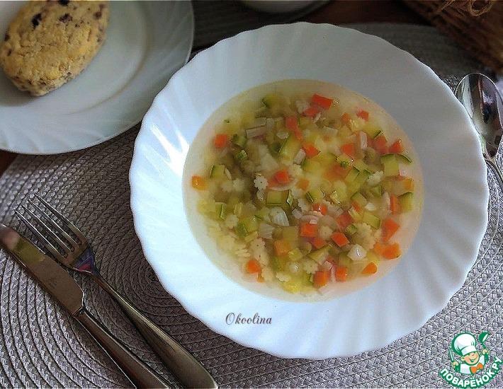 Рецепт: Диетический овощной суп
