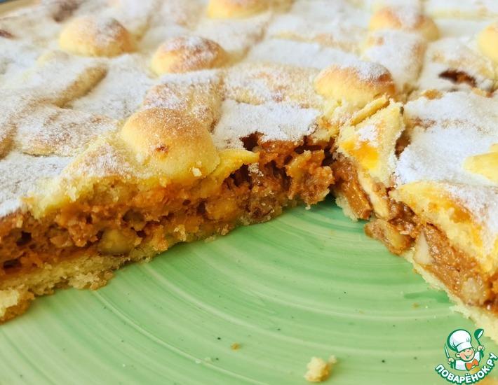 Рецепт: Пирог с варёной сгущёнкой
