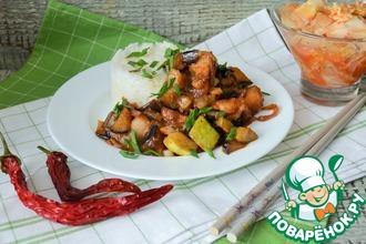 Рецепт: Грудинка с овощами по-корейски