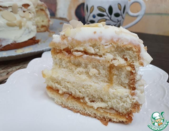 Рецепт: Бисквитный торт Дуэт