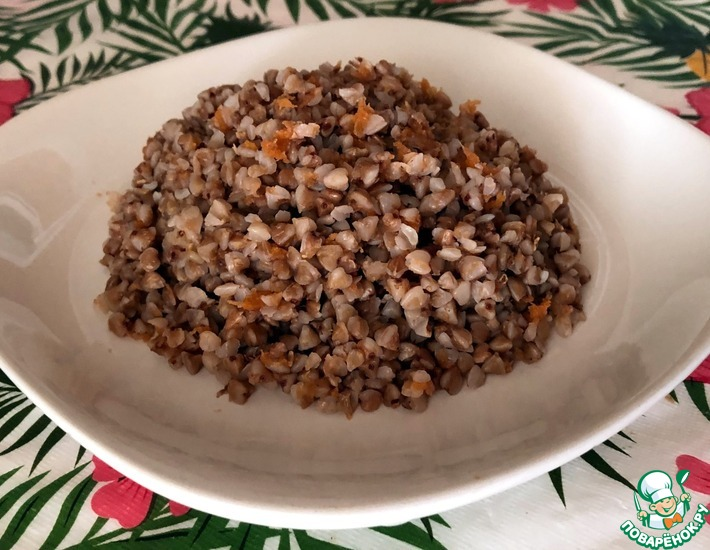Рецепт: Гречка с морковным жмыхом