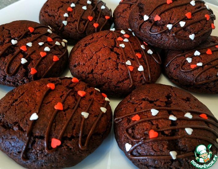 Рецепт: Удачное печенье Красный бархат