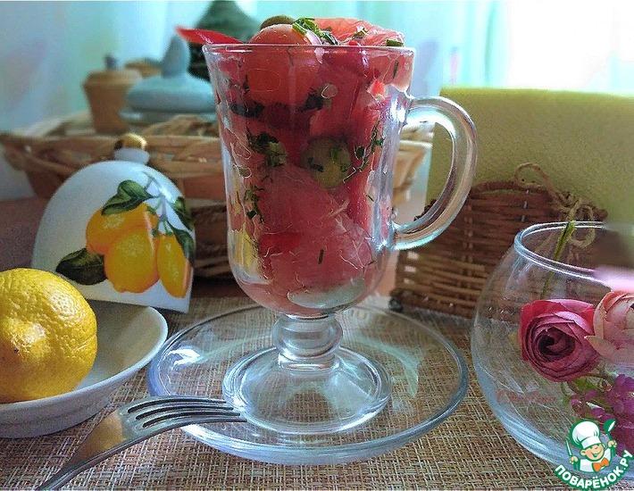 Рецепт: Витаминный салат с грейпфрутом