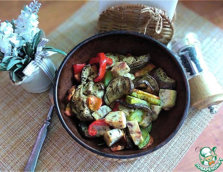 Рецепт: Печёные пряные овощи
