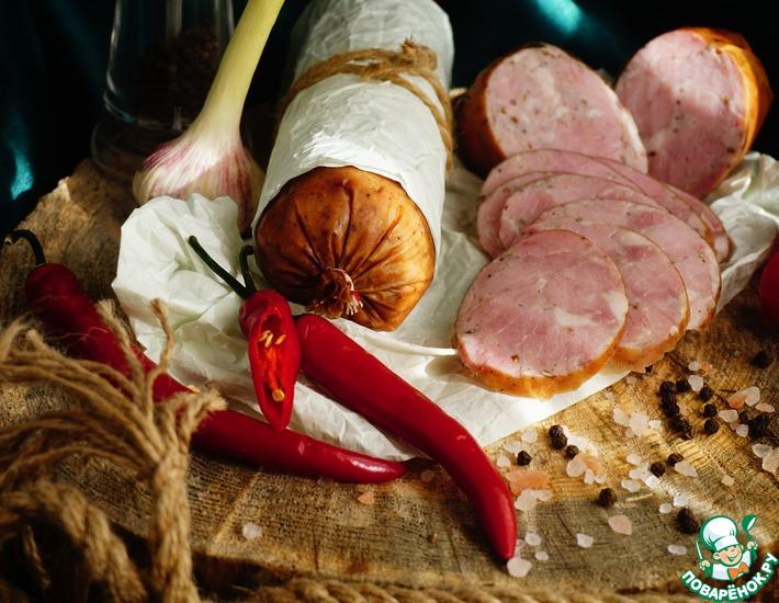 Рецепт: Колбаса Дрогобычская вареная