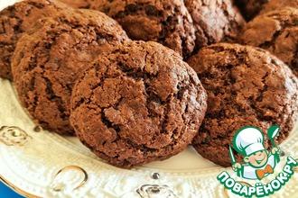 Рецепт: Шоколадное печенье с шоколадной крошкой