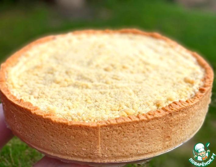 Рецепт: Пирог с творогом и вишней