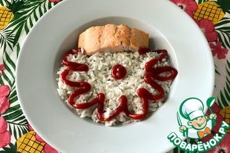 Рецепт: Рис на рыбном бульоне