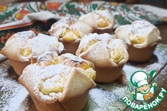 Рецепт: Творожное пирожное по мотивам итальянского Соффиони