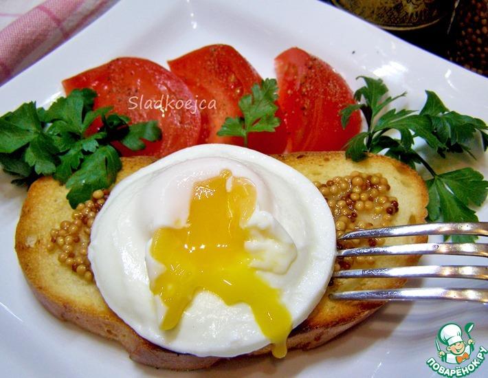 Рецепт: Бутерброд с яйцом-пашот